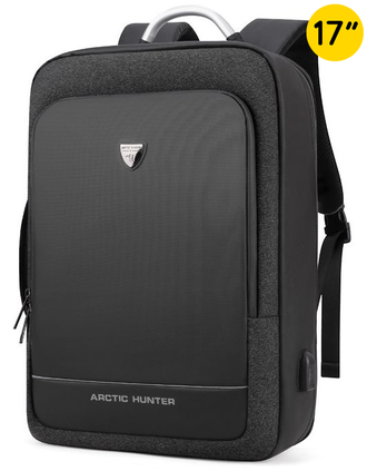 Сумка-рюкзак ARCTIC HUNTER B00227 USB Черный + Powerbank