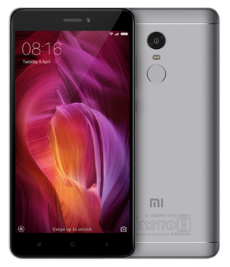 Смартфон Redmi Note 4 4 GB RAM/64 GB ROM gray Глобальная версия
