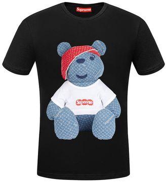 e5fd7a0c9402 Чёрная футболка Supreme Louis Vuitton (Суприм Луи Виттон) с мишкой