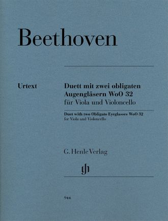 Beethoven Duet with two Obligato Eyeglasses WoO 32 for Viola and Violoncello