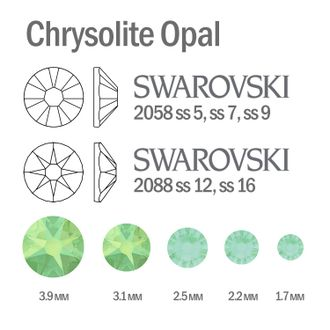 Мини-микс страз для маникюра Chrysolite Opal - 30шт