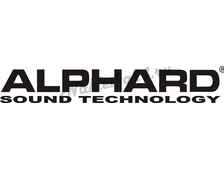 Наклейка на авто Alphard Sound Technnology 2