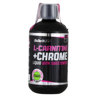 (BioTech) L-Carnitine+Chrome - (500 мл) - (груша-яблоко)
