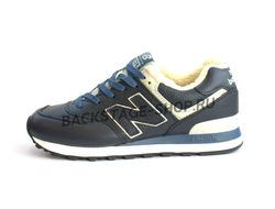 Кроссовки New Balance 574 Navy Blue с мехом