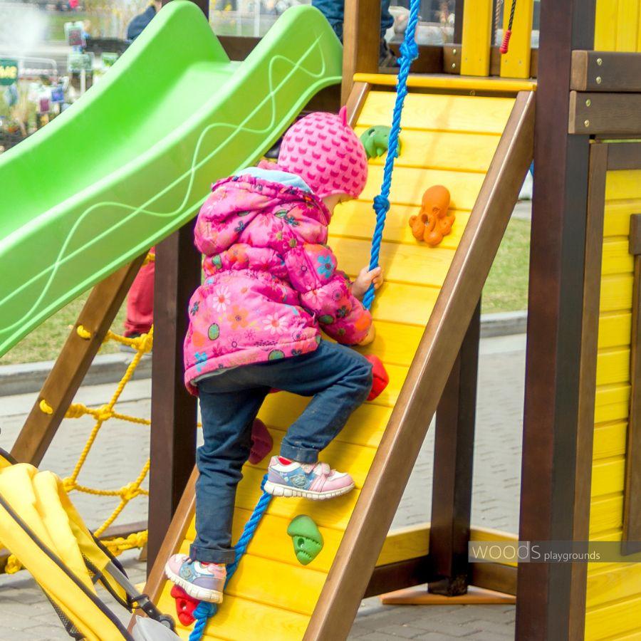 Модули детских площадок спортивно игровых комплексов Wood's: СКАЛОДРОМ