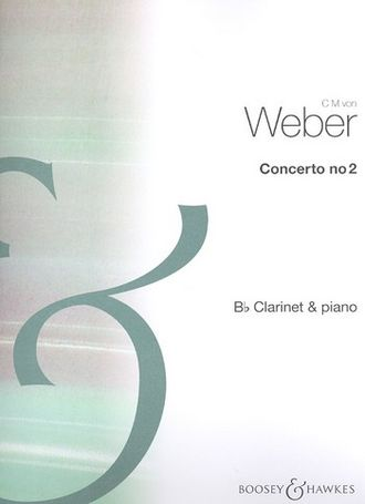 Weber,  Concerto no.2 op.74 :  for clarinet and piano