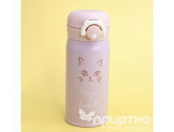 "Термос ""My kitty"", pink (350ml)"