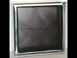 Стеклоблок Vitrablok окрашенный внутри волна черный