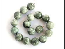 Бусина Серафинит (клинохлор), шар 12,5 мм (1 шт) №15996