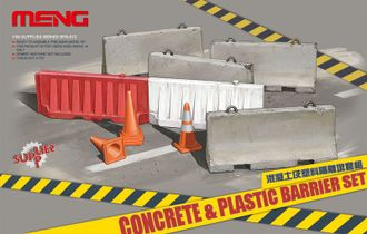 Сборная модель: (MENG SPS-012) Concrete & Plastic Barrier Set