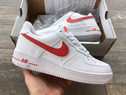 Кроссовки Nike Force 1 Low White/Red
