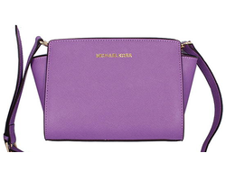 Сумка Michael Kors Selma mini фиолетовая