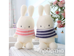 Игрушка «White striped rabbit» 25 см