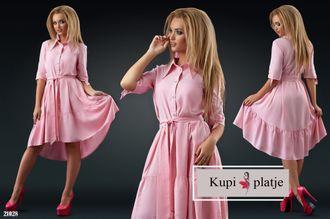 Ассиметричное летнее платье - 21028