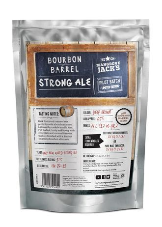 Солодовый экстракт Mangrove Jack's Bourbon Barrel Strong Ale, 2,5 кг
