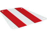 Cloth Sail 19 x 17 with Red Thick Stripes Pattern, White (69264 / 6314373)