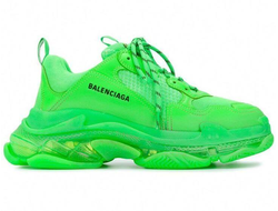 Balenciaga Triple-S (БАЛЕНСИАГА) Clear Sole зеленые женские (36-41)