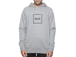 Толстовка HUF BOX-LOGO P/O HEATHER GREY