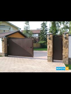 Сдвижные ворота собери сам купить ворота плюс колитка сделать арегинально