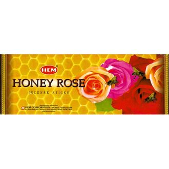 Благовония HEM Hexa HONEY-ROSE Мёд-Роза