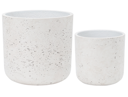 Цветочное кашпо SIA CHALK FLOWER POT MEDIUM S/2 , 280095 , H24/17.5 D25.5/18