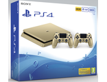 PlayStation 4 (РСТ СUH-2008А) Slim (500Gb) Gold+PS 4 Controller Wireless Dual Shock Gold