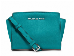 Сумка Michael Kors Selma mini бирюзовая