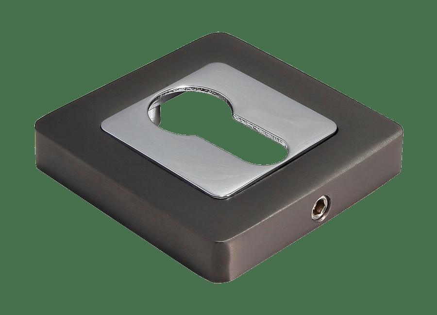 Накладки на ключевой цилиндр Morelli MH-KH-S55 GR/PC Цвет - графит/полированный хром