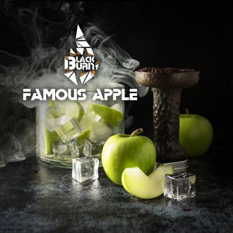 Табак Black Burn Famous Apple Зеленое Яблоко Со Льдом 100 гр