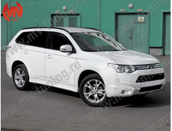 Накладки на пороги (юбки) Mitsubishi Outlander((3rd generation) Broomer Design