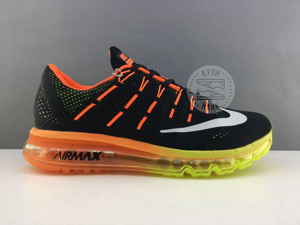 d03bf47e Купить кроссовки Nike Air Max 2016 Черные с желтым в СПБ