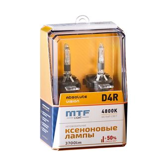 Ксеноновые лампы MTF Light D4R P32d-6 Absolute Vision +50% 4800K AVBD4R