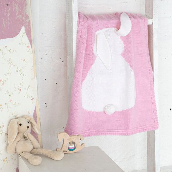 Плед APERO ЗАЙКА розовый 60х120 см