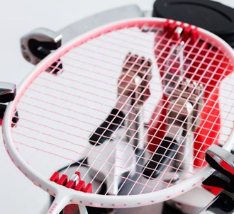 Карбоновая ракетка для бадминтона Xiaomi full carbon badminton racket размер 26 бело-черная