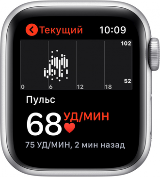 Умные часы Apple Watch SE GPS 44mm Aluminum Case with Sport Band Silver White