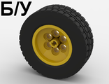 ! Б/У - Wheel 62.4 x 20, with Black Tire 62.4 x 20 (32020 / 32019), Yellow (32020c01) - Б/У