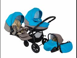 Универсальная коляска Tutis Zippy Tapu-Tapu (3 в 1) Цвет Голубой/светло-серый