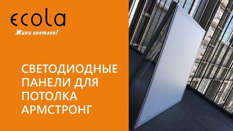 Светодиодные панели Ecola для потолка Армстронг