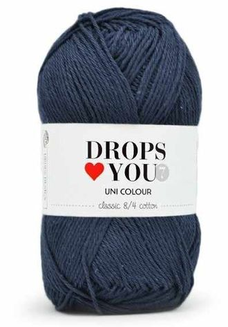 Пряжа DROPS Love You 7 Цвет - navy blue