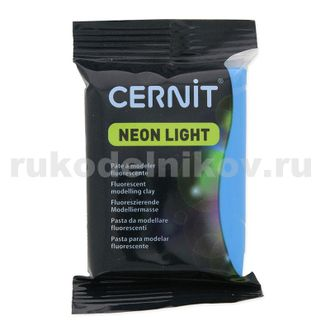 полимерная глина Cernit Neon Light, цвет-blue 200 (синий), вес-56 грамм