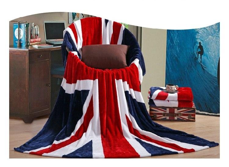 """Плед плюшевый """"Британский флаг"""". Легкий"""