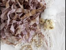 Шебби-лента цвет Антикварный лиловый, 2 метра