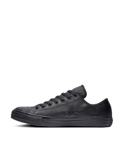 Кеды Chuck Converse Taylor All Star Mono Leather Low-Top Кожаные черные низкие