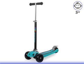 Самокат Novatrack Rainbow Basic Color 120/90 (2019) (Голубой) Kiddy-Bikes