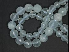 Бусины Берилл голубой (аквамарин), шар граненый 8 мм (1 шт) №20254