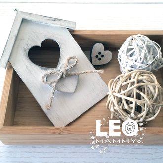 LM -ZD04 - подвеска - домик с сердечком
