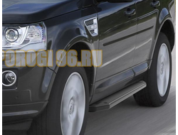 Пороги на Land Rover Freelander II (2006-2015) Black