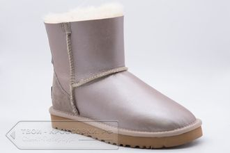 Угги UGG Australia Mini Zip Metallic Pink женские арт. U82