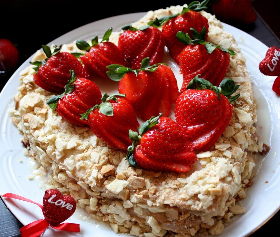 украшение торта наполеон фото