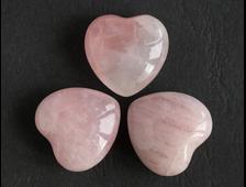 Сердце Розовый кварц в ассортименте (24*24*11 мм, 11 г) №1807
